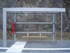 Wartehalle BUS-STOP 4-feldrig Front