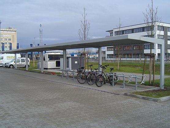 Fahrradüberdachung FH 60 als Reihenanlage