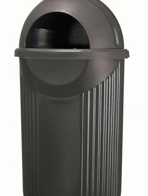Abfallbehälter AB 10 Schwarz, aus Kunststoff