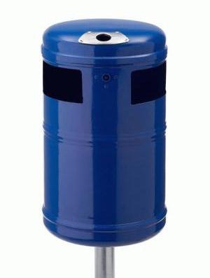 Abfallbehälter AB 100 Blau, aus Stahl
