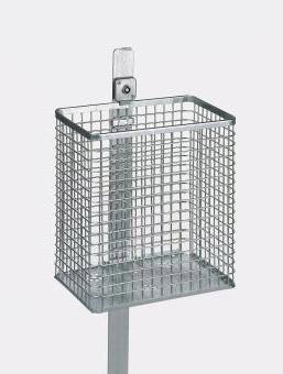 Abfallbehälter AB 110 Gitter, aus Stahl