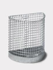 Abfallbehälter AB 120 Gitter, aus Stahl