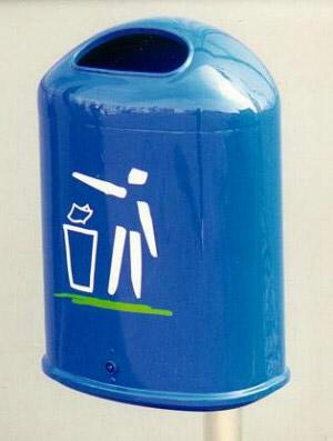 VarianteAbfallbehälter AB 41 Blau, aus Kunststoff