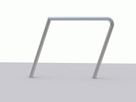 einzelner Fahrradanlehnbügel Parallel Standard