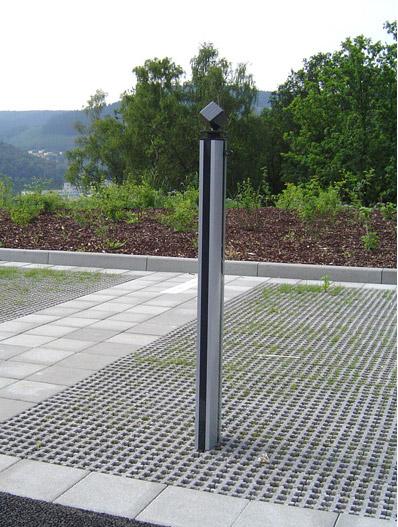 Geländer System 30 mit Vierkannt