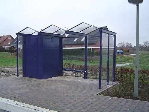 Personaltoiletten, nachgerüstet in Wartehalle