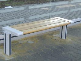 Sitzbank SB 31003 Grau - Holz