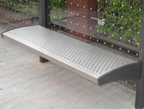 Sitzbank SB 36013D mit Metallsitzfläche