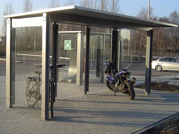 Fahrradüberdachung FH 4, Dachtiefe 2,40m