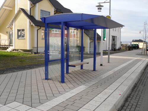 Wartehalle WHSG 53 in blau