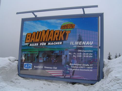 Plakattafeln Sonderanfertigung im Schnee