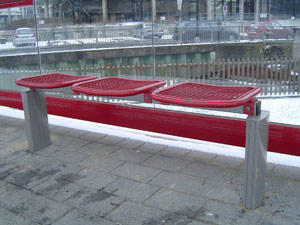 Sitzbank SB 35003 Rot
